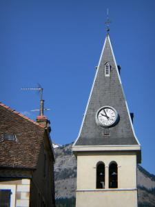 Saint-Bonnet-en-Champsaur - Clocher de l'église Saint-Bonnet