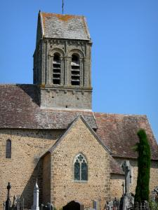 Saint-Céneri-le-Gérei - Tower of the Saint-Céneri Romanesque church