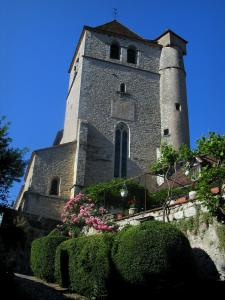 Saint-Cirq-Lapopie - Church of the village, in the Lot valley, in the Quercy