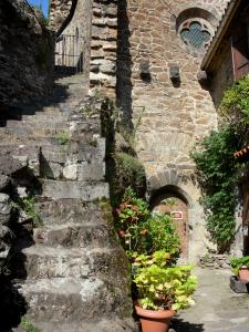 Saint-Floret - Stairs leading to the castle