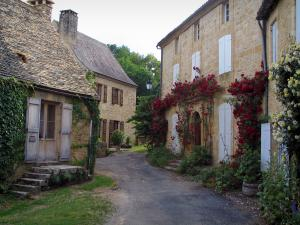 Saint-Geniès - Houses of the village with climbing roses