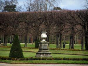 Saint-Germain-en-Laye - Lawns and cut trees in the park of the castle