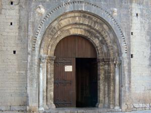 Saint-Guilhem-le-Désert - Portal of the abbey church (Gellone abbey)