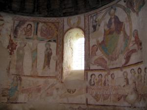 Saint-Jacques-des-Guérets church - Murals (frescoes) of the Romanesque church