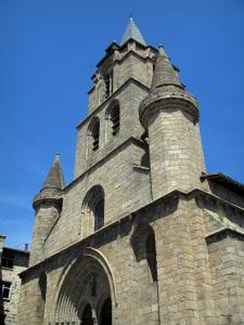 Saint-Junien collegiate church - Saint-Junien granite collegiate church of Romanesque style