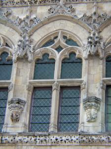 Saint-Quentin - Detail of the facade of the Town Hall