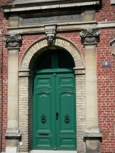 Saint-Quentin - Door of the mansion of the Academic Society of Saint-Quentin
