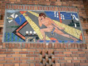 Saint-Quentin - Art Deco mosaic of the Post office