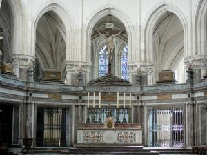 Saint-Riquier - Inside of the Saint-Riquier abbey church
