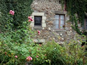 Saint-Suliac - Stone house with creepers and rosebushes