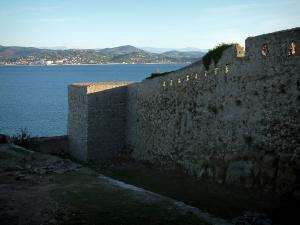Saint-Tropez - Ramparts of the citadel with view of the Mediterranean Sea and the hills of the coast
