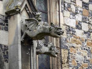 Saint-Valery-sur-Somme - Upper town (medieval town): gargoyles of the Saint-Martin church