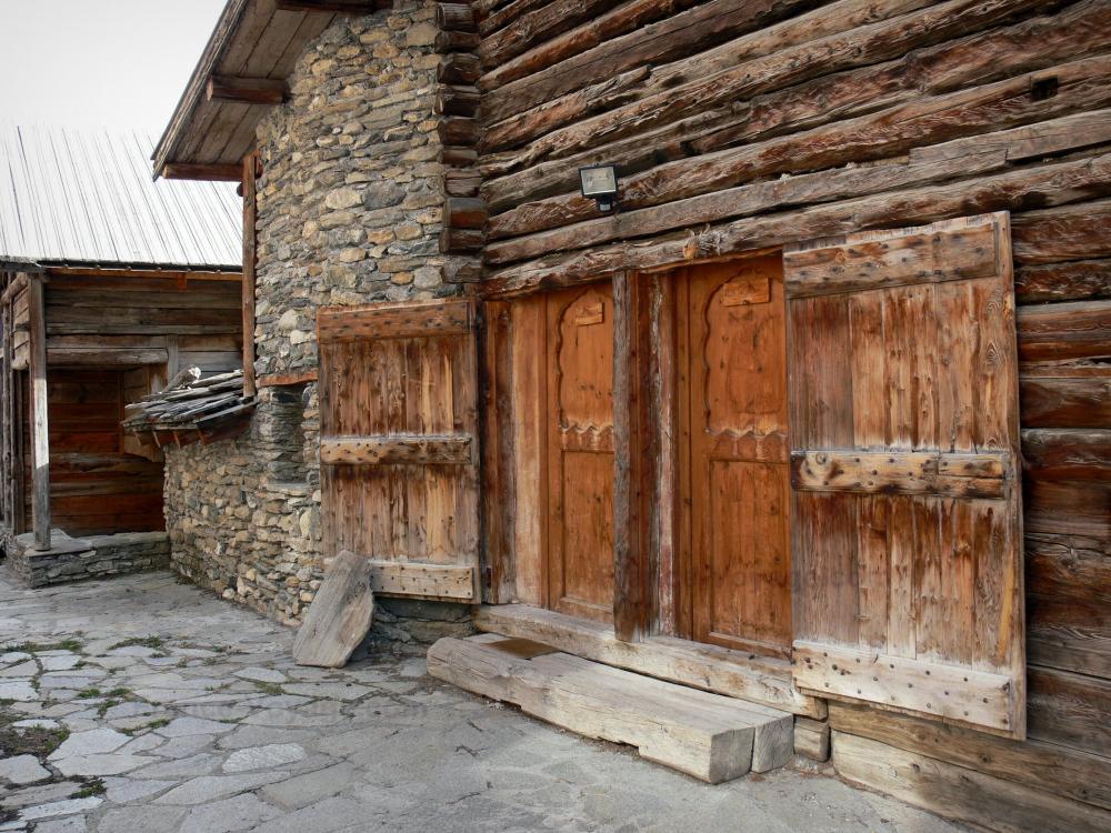 Chalet de madera y piedra chalet de piedra y madera en una planta previous next modelo ibiza - Chalet de madera y piedra ...