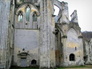 Saint-Wandrille abbey - Ruins of the abbey church, in the Norman Seine River Meanders Regional Nature Park