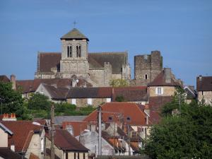 Saint-Yrieix-la-Perche - Moustier collegiate church and houses of the city