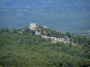 Sainte-Baume massif - Forest and ruins of the Nans-les-Pins castle