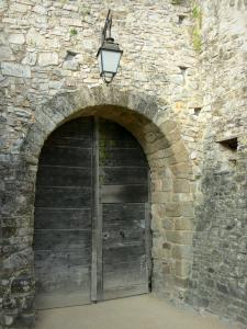 Sainte-Suzanne - Entrance door of the castle