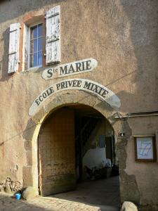 Sainte-Suzanne - Portal of the Sainte-Marie school