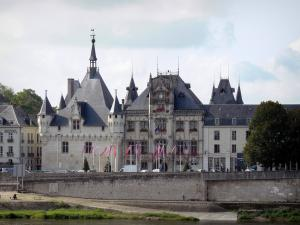 Saumur - Town hall and the Loire River