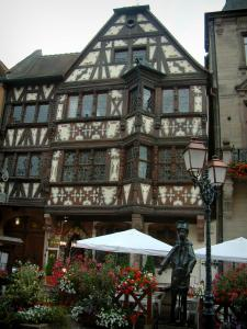 Saverne - Katz house and its flower-bedecked terrace