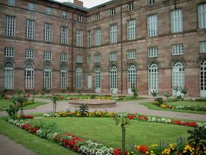 Saverne - Flower garden and the Rohan castle