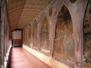 Saverne - Récollets cloister with murals