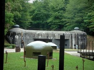 Schoenenbourg fort - Fort of the Maginot Line in the forest