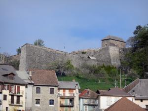 Seyne - Citadel (Vauban fort) overlooking the houses of the old town