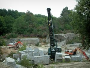 Sidobre - Granite quarry and forest in the Upper Languedoc Regional Nature Park