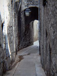 Sisteron - Stairway lined with houses