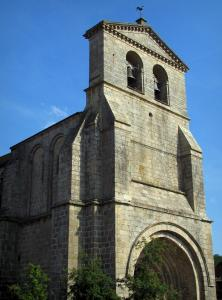 Solignac abbey church - Abbey church and its bell tower