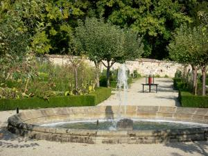 Souvigny priory - Pool in the garden of the Souvigny priory