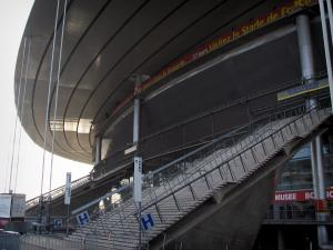 Stade de France stadium - Stairs leading to the stands of the Stade de France stadium