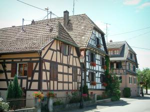 Sundgau - Half-timbered houses in the village of Grentzingen