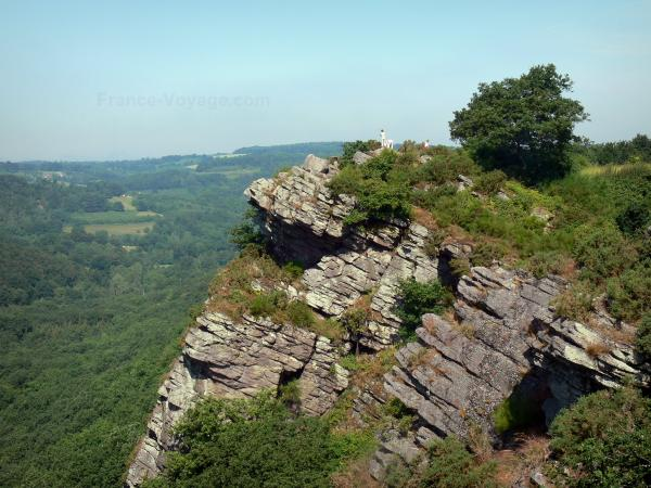 Swiss Normandy (Suisse Normande) - Oëtre rock (natural viewpoint) overlooking the surrounding wooded landscape