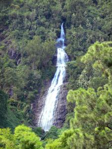 Talkessel Salazie - Kaskade Voile de la Mariée und grünende Umwelt