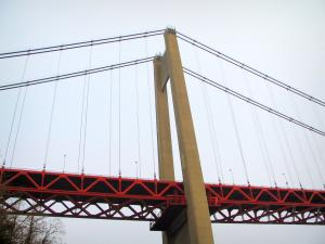 Tancarville bridge - Suspension bridge