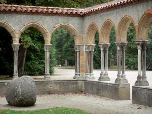 Tarbes - Massey garden (English landscape park) cloister (remains of the Saint-Sever-de-Rustan abbey)