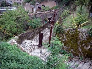 Thiers - Stairs leading to the Factory Valley (Vallée des Usines)