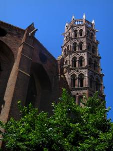 Toulouse - Church bell tower of the Jacobins convent (Jacobins conventual buildings)