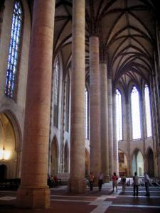 Toulouse - Inside of the church of the Jacobins convent (Jacobins conventual buildings)