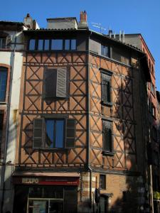 Toulouse - Half-timbered house in the old town