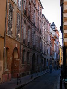 Toulouse - Street and houses of the old town