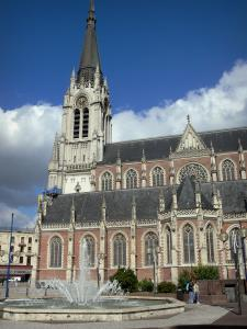 Tourcoing - Saint-Christophe church and fountains