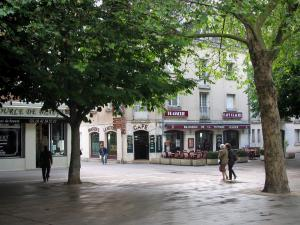 Tours - Sqaure decorated with trees and café terrace