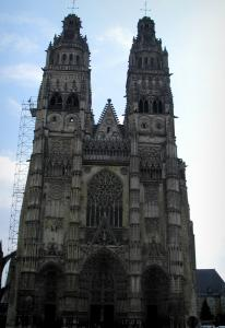 Tours - Facade of the Saint-Gatien cathedral