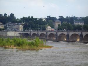 Tours - Wilson bridge spanning the Loire River