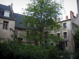 Tours - Houses of the old town, tree and shrubs