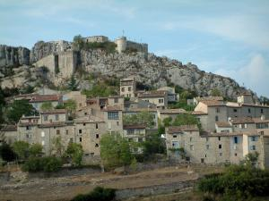 Trigance - Feudal castle dominating the houses of the village (Verdon Regional Nature Park)