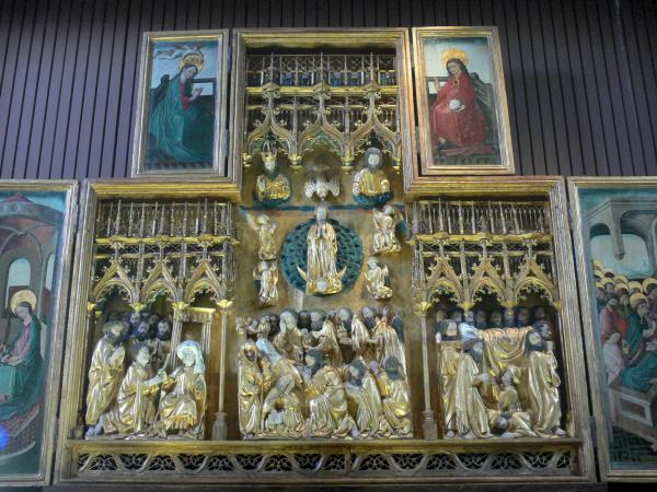 Triptychs of Ternant - Altarpiece of the Virgin (Flemish triptych) in the Saint-Roch church